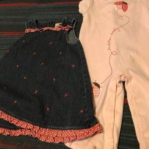 Gymboree little lady set 12/18 mos